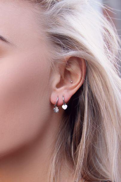 Earrings with four-leaf clover