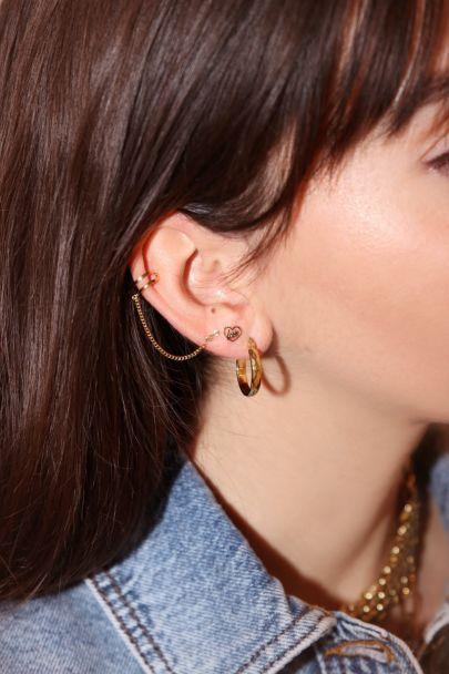 Ear cuff slang stud