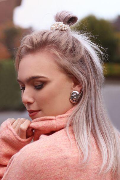 Drop earrings double circles