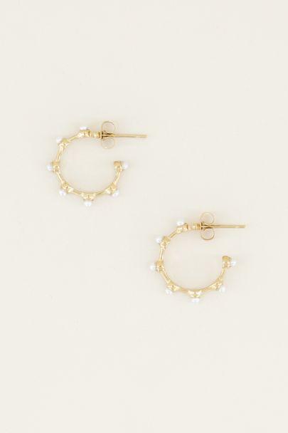 Oorringen met parels| Parel oorbellen bij My Jewellery