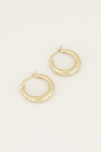 Small hoop earrings with pattern | Small hoop earrings from My Jewellery