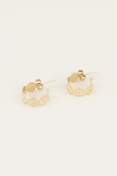 Oorhangers met rondjes patroon | Oorbellen rondjes My jewellery