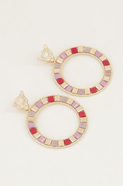 Statement oorbel leopard, statement oorbellen My Jewellery