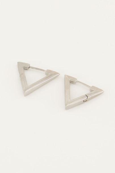 Oorbellen driehoek 20 mm | My Jewellery