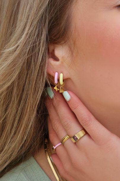 Earhoops yellow lock