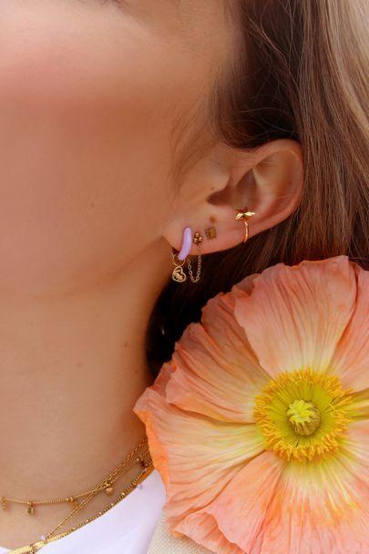 Earhoops lilac love