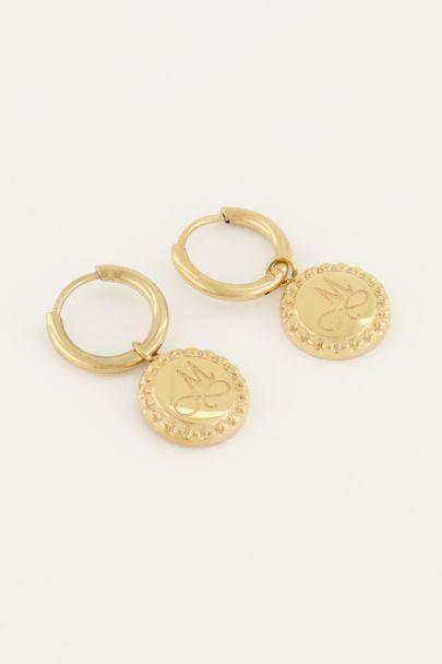 Ohrringe Initialen Münze