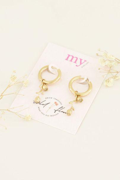 Oorringen met roos   Shop de leukste oorbellen   My Jewellery