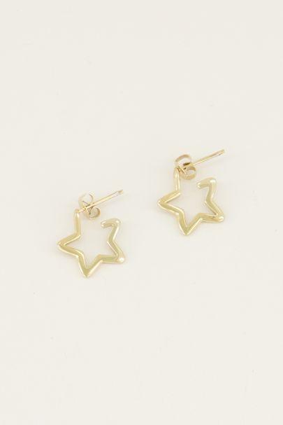 Ohrringe mit offenem Stern| Ohrringe mit Stern| My Jewellery