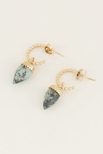 Oorringen groene steen | Groene oorbellen My jewellery
