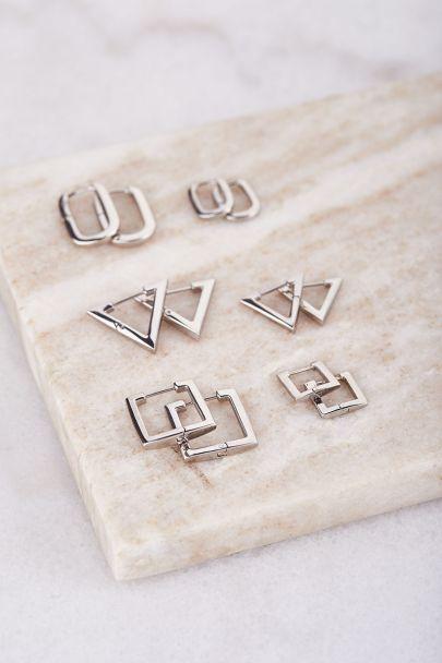 Earrings square large