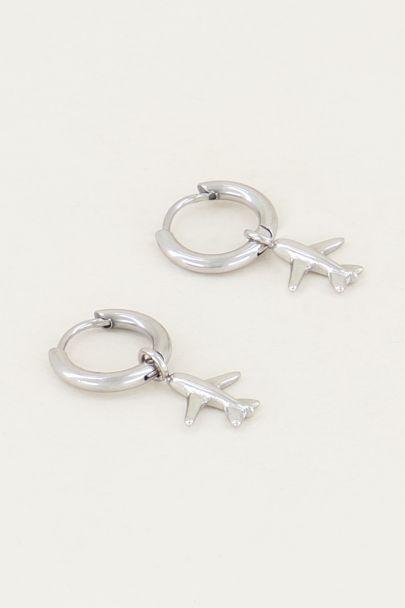 Oorringen vliegtuigje, minimalistische oorbellen My Jewellery