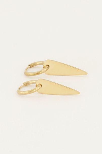 Oorringen lange driehoek | Oorbellen | My Jewellery