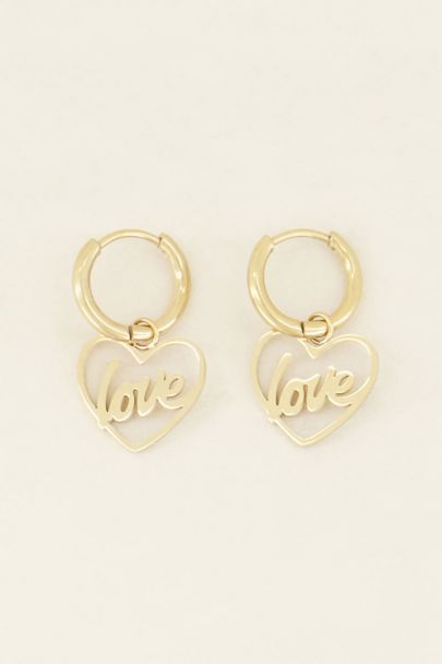 Oorringen hart love | My Jewellery