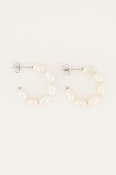 Earrings freshwater pearls