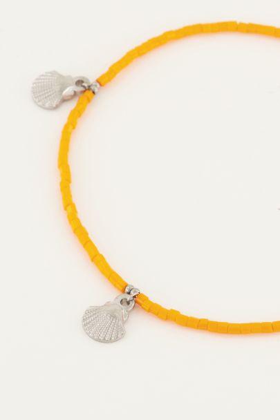 Orange shell anklet