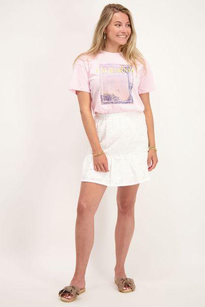Roze T-shirt California print