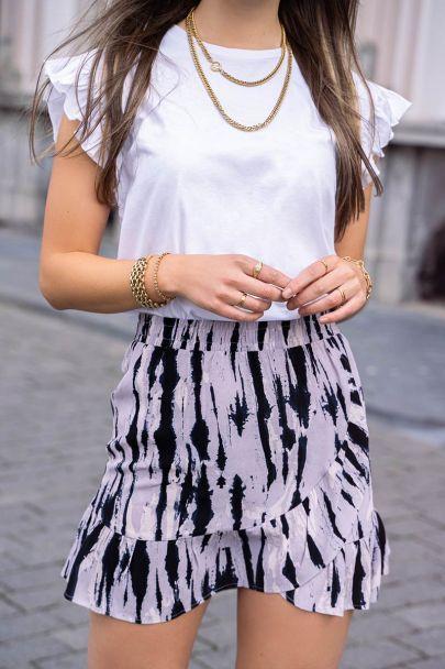 Paars rokje tie-dye print