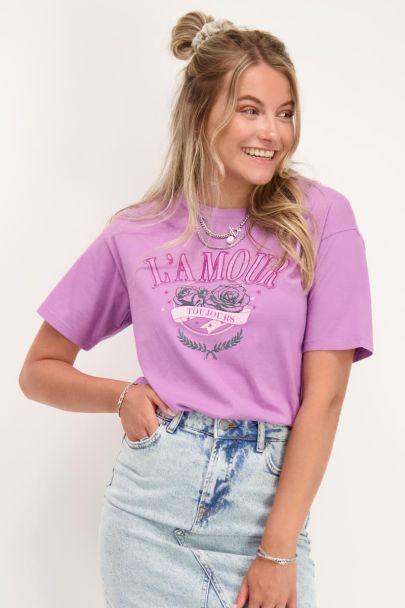 Purple T-shirt L'amour