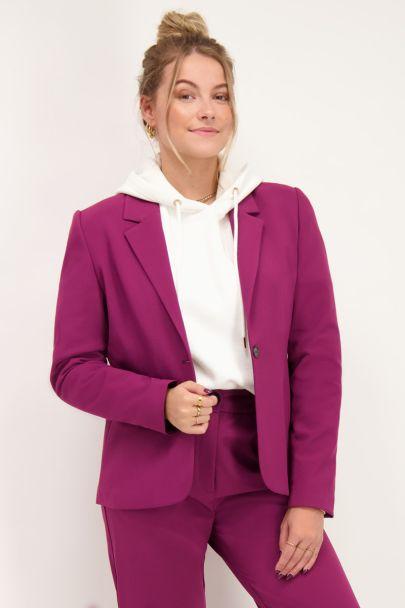 Purple oversized blazer