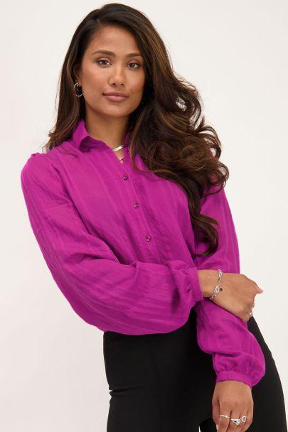 Paarse blouse met verticaal structuur