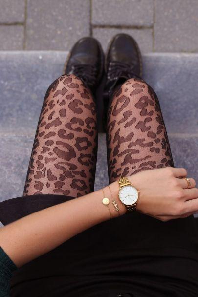 Panty met luipaard print