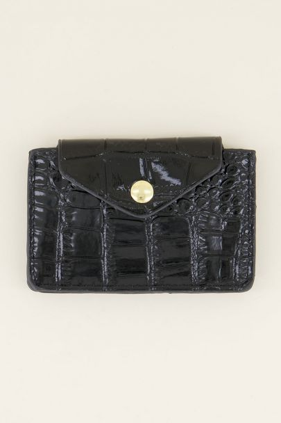 Zwarte pasjeshouder slangenprint | My Jewellery