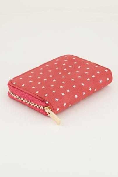 Rode portemonnee klein sterretjes