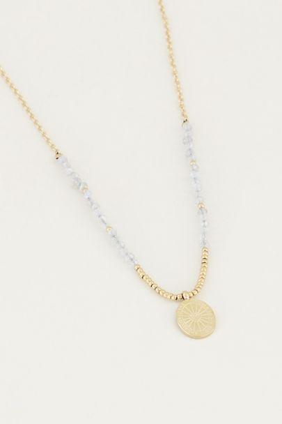 Necklace charm & Labradorite, necklace with gemstone