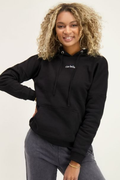 Black Ciao Bella hoodie