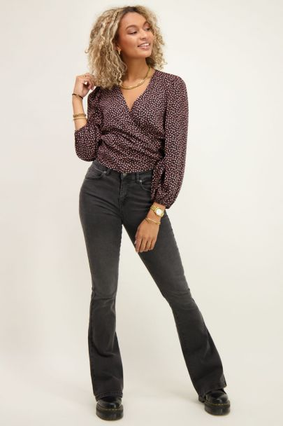 Grijze flared jeans