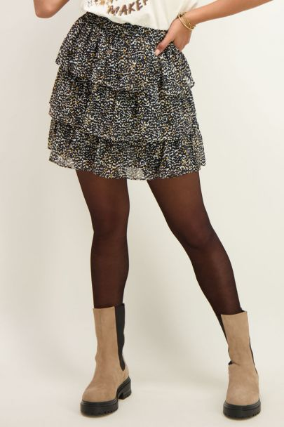 Skirt with layers & print