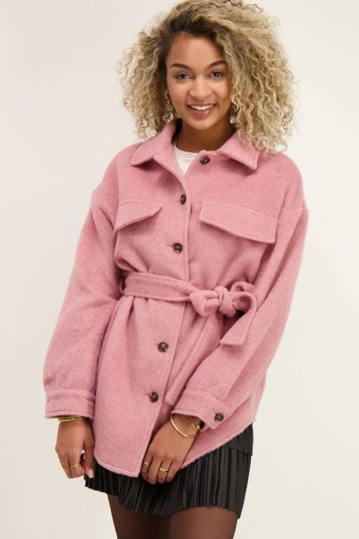 Roze oversized jack met koord