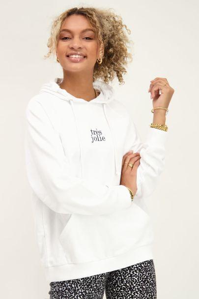 Witte hoodie très jolie