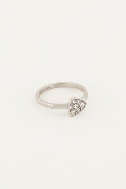 Ring driehoek strass