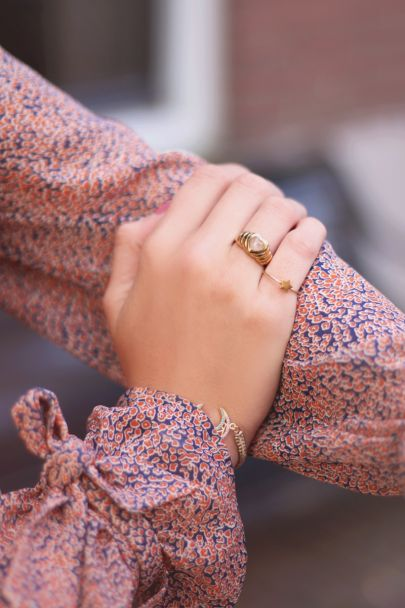 Ring Rose Quartz hartje