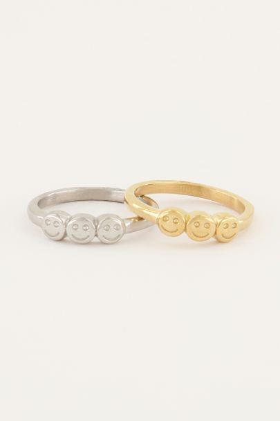 Ring met drie smileys