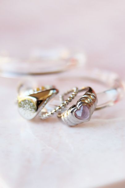 Ring Rose Quartz hartje