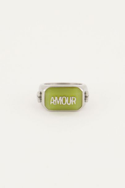 Ring statement amour groen | My Jewellery