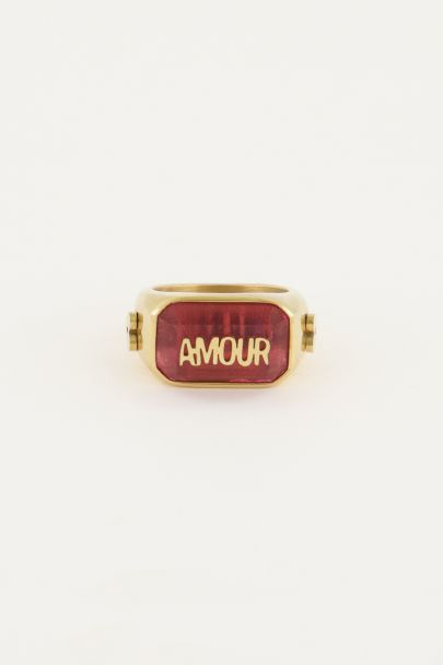 Ring statement amour roze