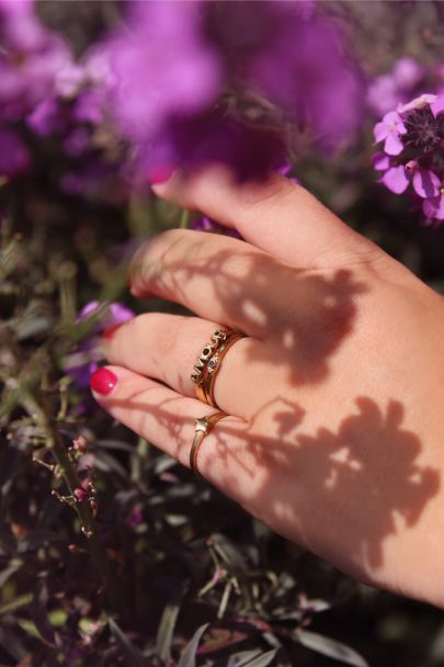 Ring with small star