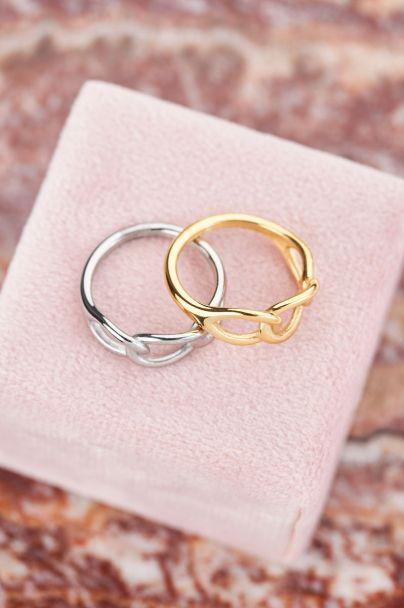 Ring met grote ovale schakels