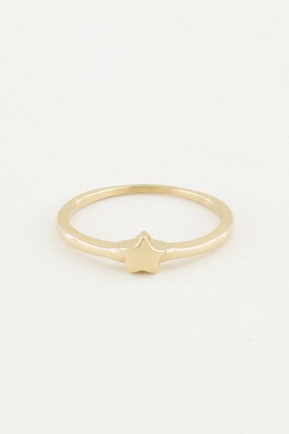 Ring with small star, ring with star
