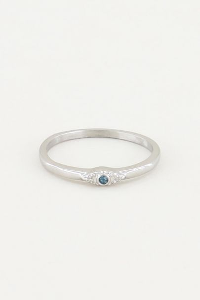 Ring with blue stone