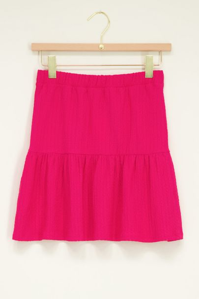 Pink skirt with structure