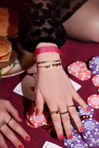 Roze armband love