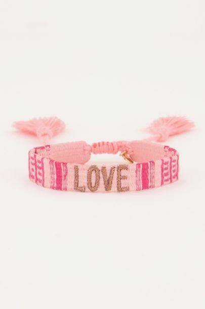 Roze armbandje love | My Jewellery