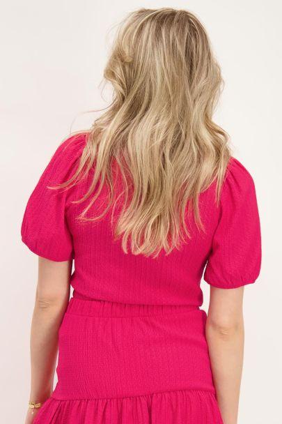 Roze top met structuur