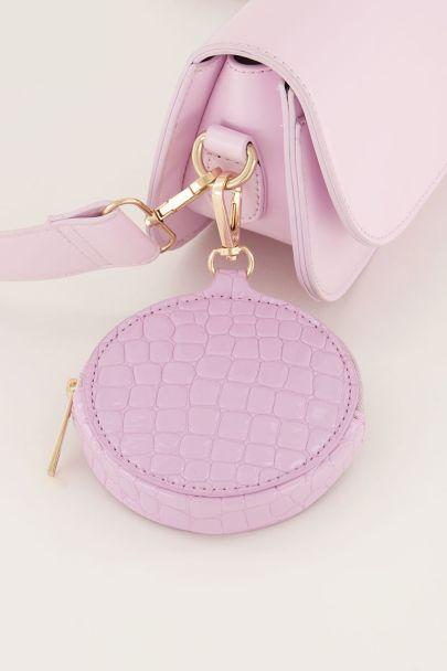 Roze portemonnee rond