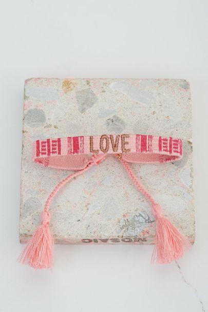 Roze armbandje love